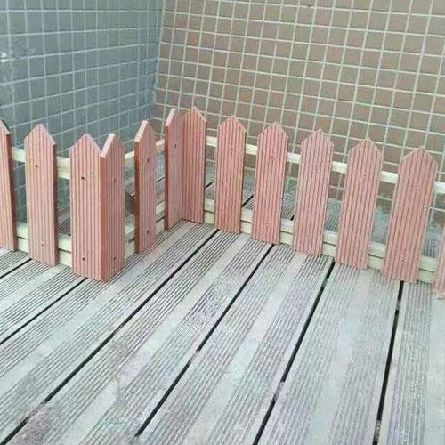 阳台塑木地板、围栏工程